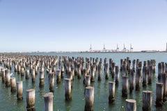 Принцы Пристань в порте Мельбурне стоковая фотография rf