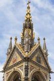 Принц Альберт мемориальный, декоративные детали, сады Kensington, Лондон, Великобритания Стоковая Фотография