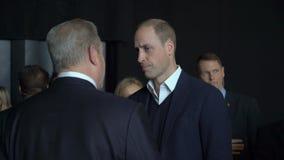 Принц Вильям, герцог Кембриджа, встречает вице-президента Al Gore Соединенных Штатов акции видеоматериалы
