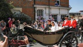 Принц Гарри, герцог Сассекс и Meghan, Duchess разрешения Сассекс Стоковые Фотографии RF