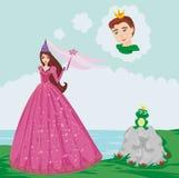 Принц заколдованный с лягушкой бесплатная иллюстрация