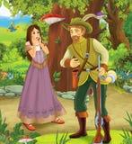 Принц или принцесса - замки - рыцари и феи Стоковая Фотография
