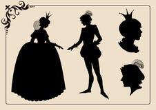 Принц и принцесса иллюстрация штока