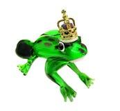 принц лягушки кроны золотистый Стоковые Изображения RF