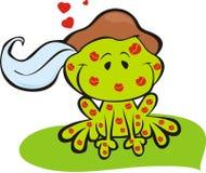 Принц лягушки с поцелуями Стоковое фото RF