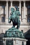 Принц Савойя Статуя в вене, Австрии Стоковые Фотографии RF