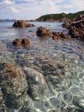принц Сардиния Италии пляжа Стоковые Изображения RF