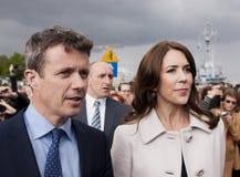 Принц Frederik Дании и принцесса Mary посещают Польшу Стоковые Фотографии RF