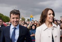 Принц Frederik Дании и принцесса Mary Стоковые Изображения