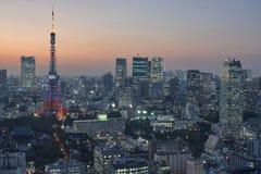 2011 принятая летом башня токио Стоковая Фотография RF