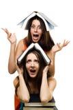 принято как раз к женщине 2 университетов Стоковые Изображения RF