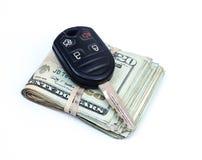 Приобретение автомобиля ключевые деньги Стоковое Изображение RF