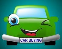 Приобретение автомобиля показывает автодорожный транспорт и приобретения иллюстрация штока
