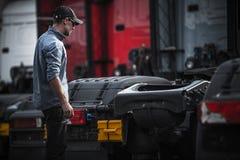 Приобретение водителя грузовика новое стоковая фотография rf