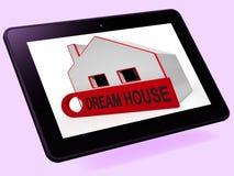 Приобретение выставок таблетки дома дома мечты или упорка стройки совершенная иллюстрация штока