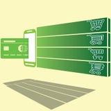 Приобретение кредитной карточкой на оборудовании ИТ бесплатная иллюстрация