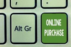 Приобретение текста сочинительства слова онлайн Концепция дела для товаров электронной коммерции приобретений от над интернета иллюстрация вектора