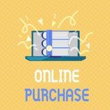 Приобретение текста сочинительства слова онлайн Концепция дела для товаров электронной коммерции приобретений от над интернета иллюстрация штока
