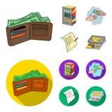 Приобретение, товары, покупки, витрина Значки собрания супермаркета установленные в шарже, плоском запасе символа вектора стиля иллюстрация вектора