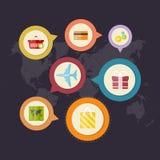Приобретение Infographics и поставка товаров бесплатная иллюстрация