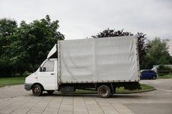 Припаркованная тележка поставки Стоковое Фото