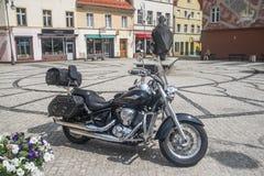 Припаркованное мотоцилк Кавасаки Стоковые Фото