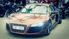 Припаркованное Audi R8 стоковые фото