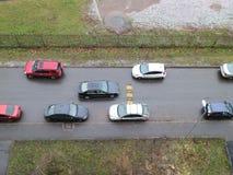 Припаркованные автомобили от различных сторон Стоковые Изображения RF
