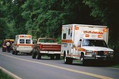 Припаркованные машины скорой помощи стоковое фото