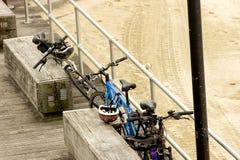 припаркованные pushbikes Стоковые Фотографии RF
