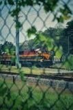 Припаркованный поезд стоковое изображение