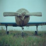 Припаркованный самолет стоковая фотография