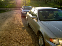 припарковано Стоковая Фотография RF