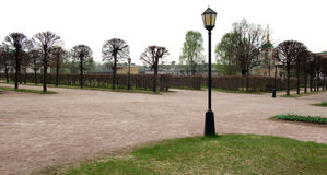 Припаркуйте в Kuskovo, имуществе семьи Sheremetev Стоковые Фотографии RF