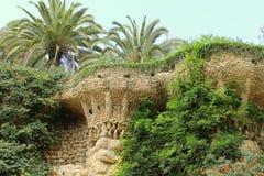 Припаркуйте парк Guell Барселону Каталонию Испанию флигеля ¼ GÃ Стоковые Фото