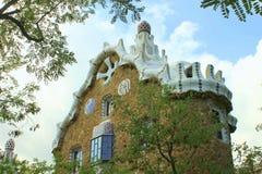 Припаркуйте парк Guell Барселону Каталонию Испанию флигеля ¼ GÃ Стоковое Изображение RF