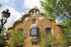 Припаркуйте парк Guell Барселону Каталонию Испанию флигеля ¼ GÃ Стоковые Фотографии RF