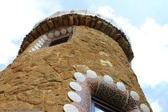 Припаркуйте парк Guell Барселону Каталонию Испанию флигеля ¼ GÃ Стоковые Изображения