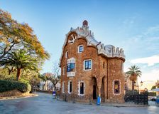 Припаркуйте Guell конструированное Antoni Gaudi в Барселоне, Испании стоковое изображение