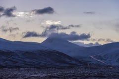 Приполюсные сверхвысотные облака Tromsø Стоковое Изображение