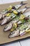 Приправленные рыбы Стоковая Фотография