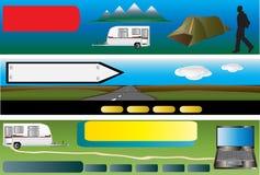 приправленный располагаться лагерем знамен Бесплатная Иллюстрация
