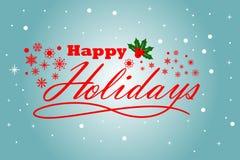 Приправьте приветствовать счастливые праздники с светом - голубой предпосылкой бесплатная иллюстрация