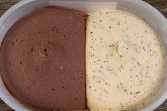 2 приправленное мороженое Стоковые Фотографии RF