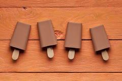 Приправленные шоколадом lollies льда Стоковые Изображения RF