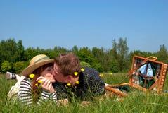 природа влюбленности пар Стоковая Фотография RF