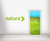 природа двери к Стоковое Изображение RF