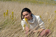 природа девушки стоковые фотографии rf