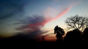 Природа захода солнца стоковая фотография