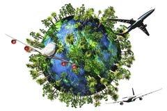 природа земли принципиальной схемы 3d представляет перемещение Стоковые Изображения